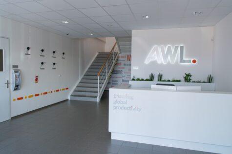 Recepce mezinárodní firmy AWL